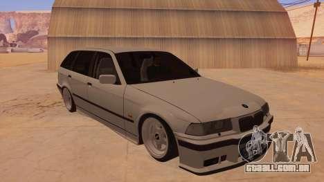 BMW M3 E36 Touring para GTA San Andreas vista traseira