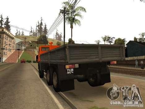 KAMAZ 5320 para GTA San Andreas traseira esquerda vista
