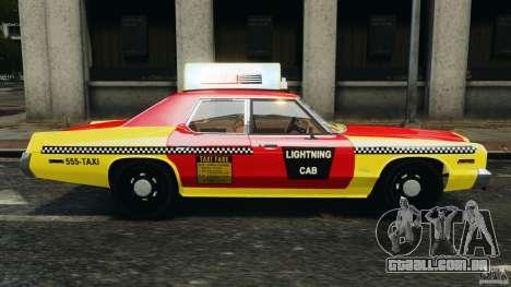 Dodge Monaco 1974 Taxi v1.0 para GTA 4 esquerda vista