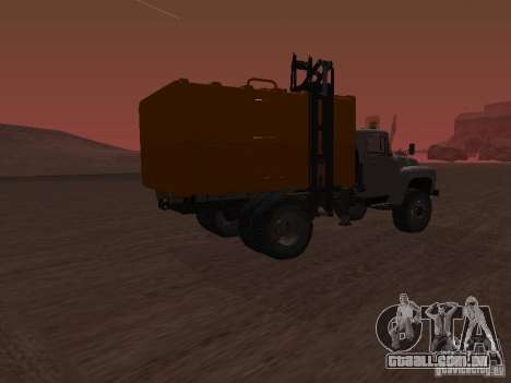 ZIL 431410 caminhão de lixo para GTA San Andreas esquerda vista