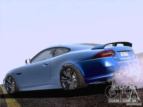 Jaguar XKR-S 2011 V2.0 para GTA San Andreas esquerda vista