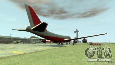 Fly Kingfisher Airplanes witout logo para GTA 4 traseira esquerda vista