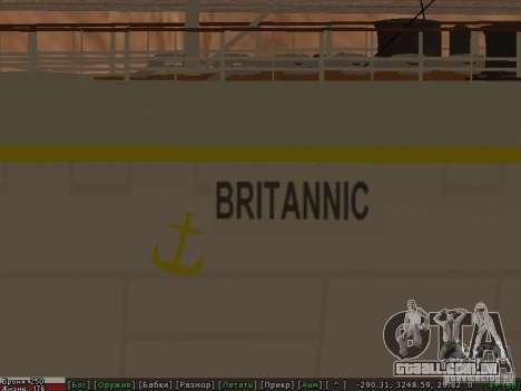HMHS Britannic para GTA San Andreas vista superior