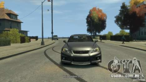 Lexus IS F para GTA 4 traseira esquerda vista