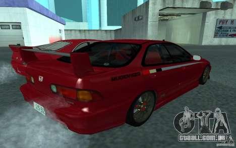 Honda Integra Type R para GTA San Andreas traseira esquerda vista