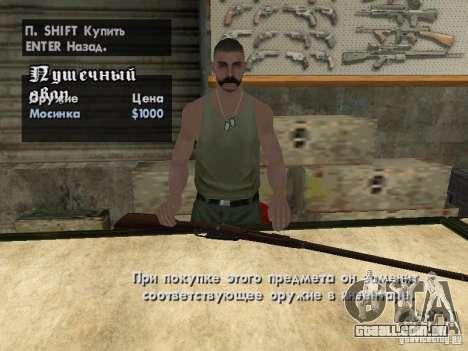Armas de Pak domésticos para GTA San Andreas décima primeira imagem de tela
