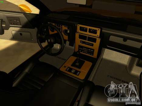 Pontiac Fiero V8 para GTA San Andreas vista interior