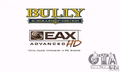 Bota clipart Bully Scholarship Edition para GTA San Andreas por diante tela
