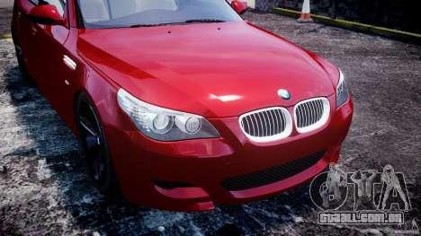 BMW M5 E60 2009 para GTA 4 motor