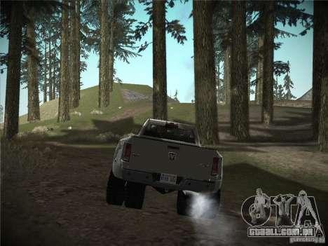 Dodge Ram 3500 4X4 para GTA San Andreas traseira esquerda vista