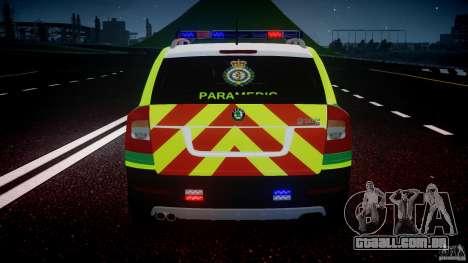 Skoda Octavia Scout Paramedic [ELS] para GTA 4 rodas