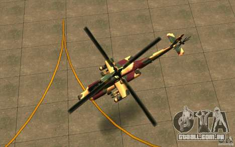Hunter Armee Look para GTA San Andreas vista traseira
