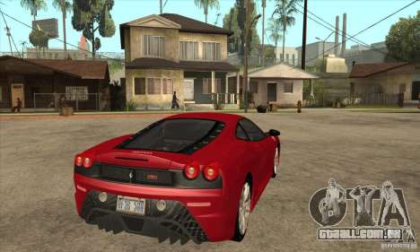 Ferrari F430 Scuderia 2007 para GTA San Andreas vista traseira