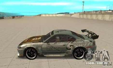 Nissan Silvia S15 [F&F3] para GTA San Andreas esquerda vista