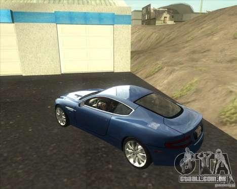 Aston Martin DB9 tunable para GTA San Andreas esquerda vista