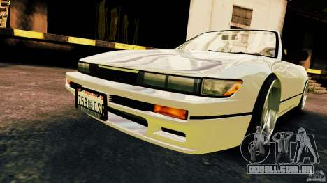 Nissan Silvia S13 Cabrio para GTA 4 vista direita