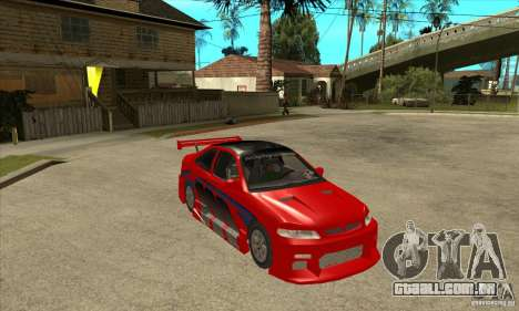 Honda Civic Tuning Tunable para GTA San Andreas vista superior