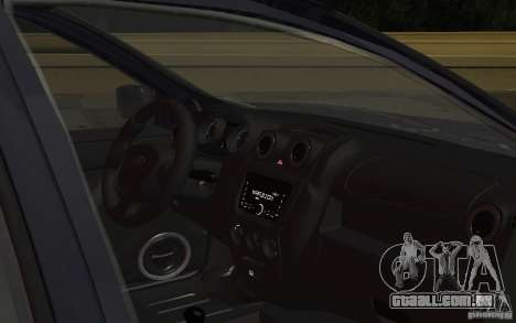 Lada Granta Stock para GTA San Andreas vista interior