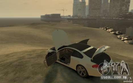 BMW M6 2010 v1.4 para GTA 4 traseira esquerda vista