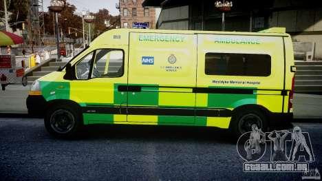 Renault Master 2007 Ambulance Scottish [ELS] para GTA 4 esquerda vista