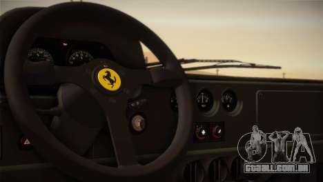 Ferrari F40 1987 para GTA San Andreas vista inferior