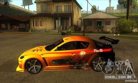 Mazda RX8 Slipknot Style para GTA San Andreas esquerda vista