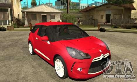 Citroen DS3 2011 para GTA San Andreas vista traseira