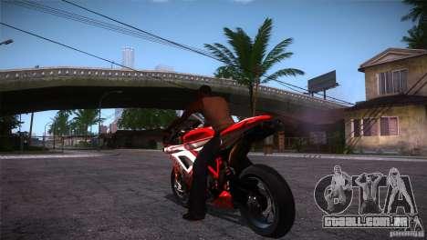Ducati 1098 para GTA San Andreas traseira esquerda vista