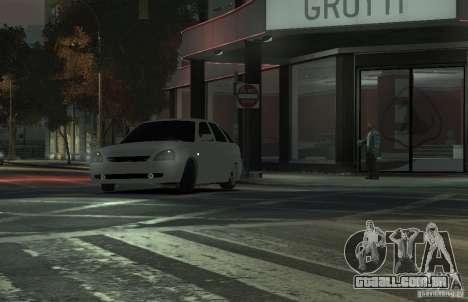 VAZ Lada Priora 2172 para GTA 4 vista de volta