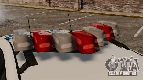 Polícia búfalo ELS para GTA 4 vista de volta