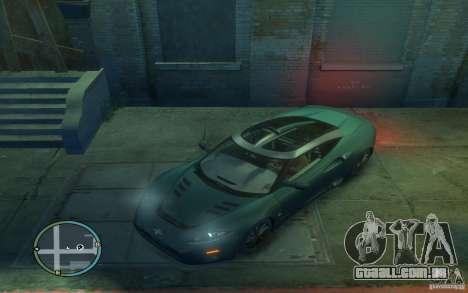 Spyker C8 Aileron para GTA 4 esquerda vista