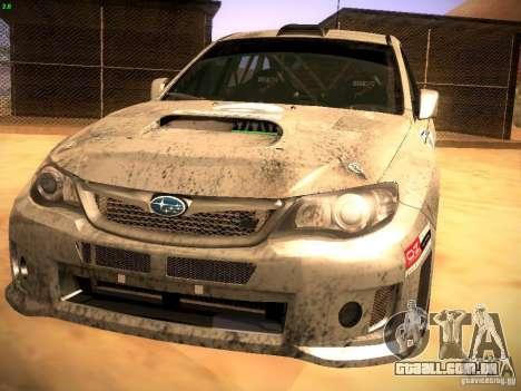 Subaru Impreza Gravel Rally para GTA San Andreas esquerda vista