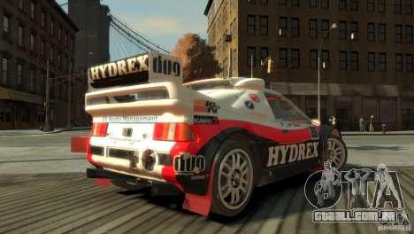 Ford RS200 Evolution Rallycross para GTA 4 esquerda vista