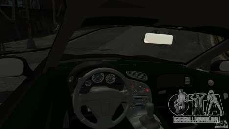 Mazda RX7 1995 Black [EPM] para GTA 4 vista de volta