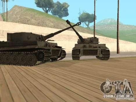 Pzkpfw VI Tiger para GTA San Andreas traseira esquerda vista