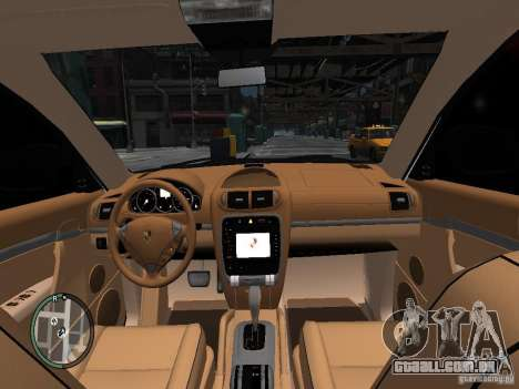 Porsche Cayenne Turbo 2003 v.2.0 para GTA 4 vista interior