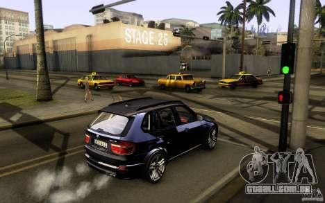 BMW X5M  2011 para GTA San Andreas traseira esquerda vista