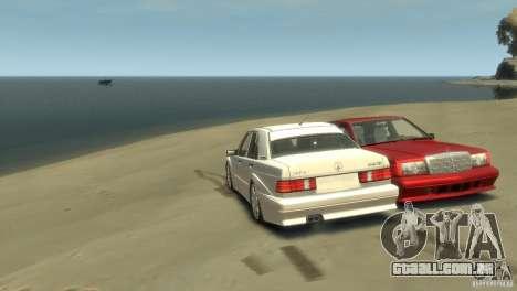 Mercedes-Benz 190E para GTA 4 esquerda vista