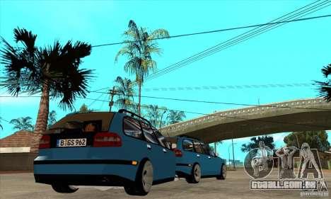 Volvo V40 Gespann para GTA San Andreas vista direita