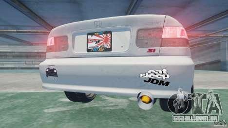 Honda Civic Si 1999 JDM [EPM] para GTA 4 vista de volta