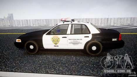 Ford Crown Victoria Raccoon City Police Car para GTA 4 esquerda vista
