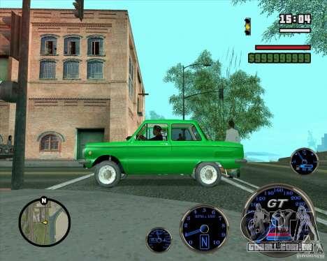 ZAZ 968M para GTA San Andreas vista inferior