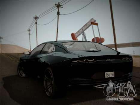 Lamborghini Estoque Concept 2008 para GTA San Andreas vista direita