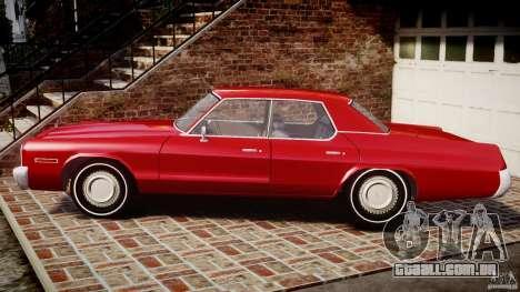 Dodge Monaco 1974 para GTA 4 esquerda vista