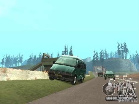 GAZ 32213 para GTA San Andreas traseira esquerda vista