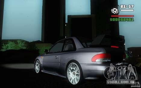Subaru Impreza 22B para GTA San Andreas esquerda vista