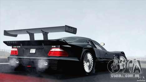 Mercedes-Benz CLK GTR Race Car para GTA San Andreas esquerda vista