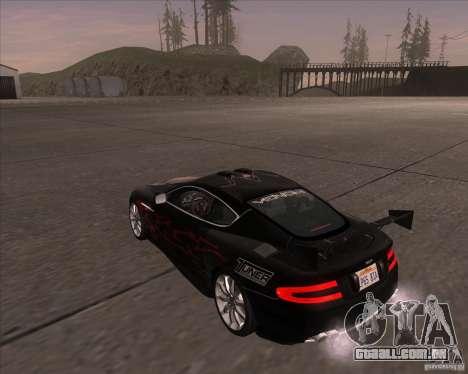 Aston Martin DB9 tunable para GTA San Andreas vista direita