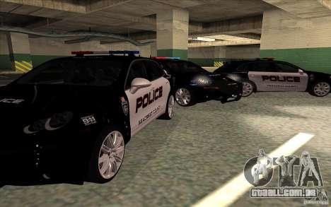 Porsche Cayenne Turbo 958 Seacrest Police para GTA San Andreas vista traseira