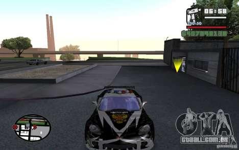 Atravessar o Corvette C6R inglês para GTA San Andreas